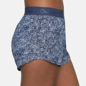 Outdoor Voices Relay Shorts in Pebbled Storm